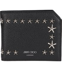 black leather albany wallet
