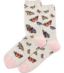 hot sox butterfly crew socks