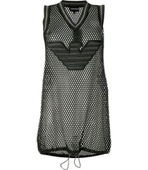 emporio armani mesh vest top - black