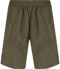 ami paris ami de coeur long swim shorts - green
