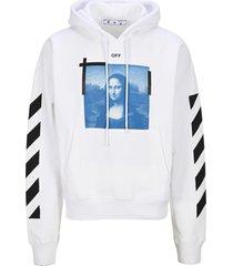 off-white blue monalisa over hoodie