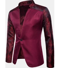 giacca da banchetto per banchetti di matrimoni con maniche corte e strass