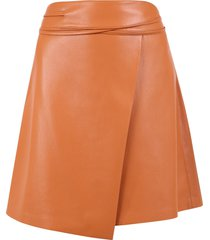 nanushka faux leather skirt
