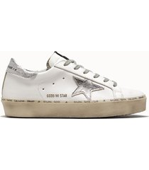 golden goose deluxe brand sneakers hi star colore bianco argento