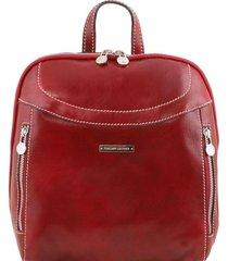 tuscany leather tl141557 manila - zaino in pelle rosso