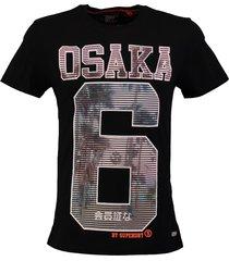 superdry t-shirt zwart valt 2 maten kleiner
