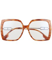 burberry 57mm square sunglasses in brown/blue light at nordstrom