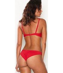 nly beach brazilian bikini panty trosa röd