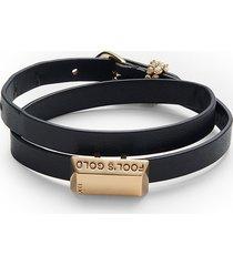 alexis bittar women's 10k goldplated & leather bracelet