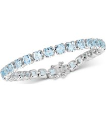 blue topaz tennis bracelet (18 ct. t.w.) in sterling silver
