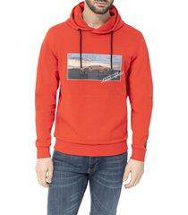automobili lamborghini huracán evo label hooded sweatshirt