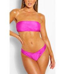mix & match brazilian v front bikini brief, purple