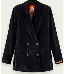 scotch & soda double-breasted corduroy blazer
