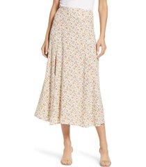 women's reformation zoe maxi skirt, size 4 - white
