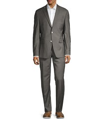 modern-fit solid stretch-wool suit
