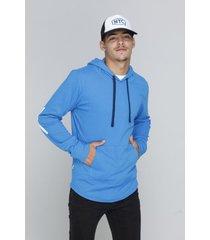 buzo azul rever pass hoodie canguro bronx