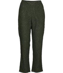 ihimala pa pantalon met rechte pijpen groen ichi