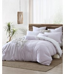ultra soft valatie cotton garment washed dyed reversible 2 piece duvet cover set, twin xl bedding