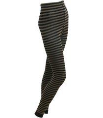 gestreepte leggings, taupe/zwart 40
