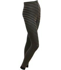 gestreepte leggings, taupe/zwart 40/42