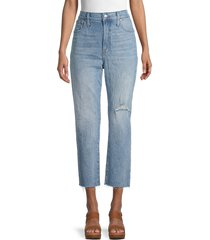 madewell women's the perfect vintage cropped jeans - rosabelle - size 23 (00)