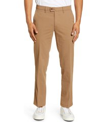 brax evans straight leg stretch pants, size 42 x 34 in camel at nordstrom