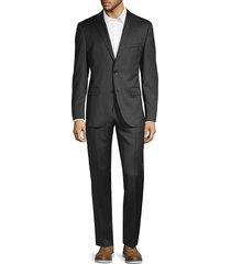 boss hugo boss men's regular fit johnstons lenon virgin wool suit - dark grey - size 40 l