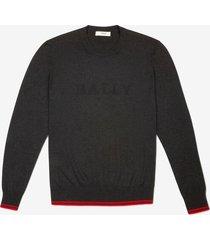 bally logo sweater grey 60