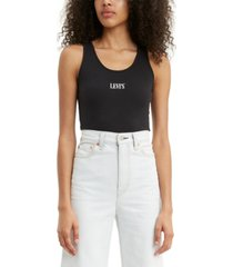 levi's sleeveless logo-graphic bodysuit