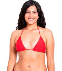 bikini estilo triángulo clásico rojo samia