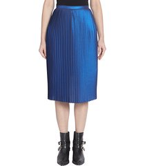metallic accordion pleat skirt