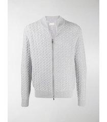 brett johnson zipped cable knit sweatshirt