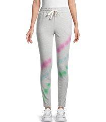 lea & viola women's tie-dye jogging pants - heather grey - size xs