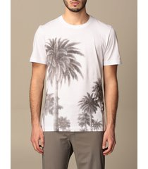 hydrogen t-shirt hydrogen cotton t-shirt with palm trees