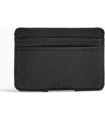 mens black pu card holder