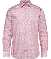 slim fit yellow/orange signature twill shirt overhemd casual roze eton