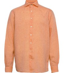 contemporary fit business casual linen shirt overhemd casual oranje eton
