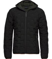 woven quilt jacket fodrad jacka svart superdry