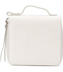 maison margiela small zipped wallet - grey