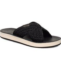 flatville sandal shoes summer shoes flat sandals svart gant