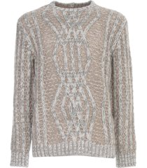 giorgio armani cashmere sweater w/braid