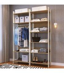 closet 10 prateleiras 1 cabideiro cbcla01 off white/itapua - completa móveis