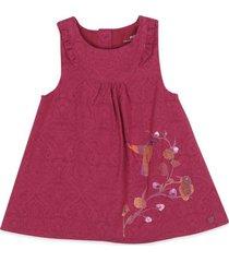 vestido bebe niña rojo  pillin