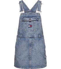 dungaree dress crlt kort klänning blå tommy jeans