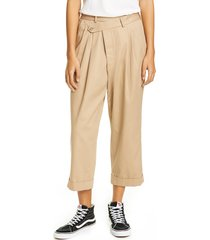 women's r13 pleated crossover pants