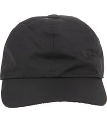 black nylon man baseball cap