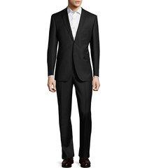 trim-fit pinstripe wool & silk-blend suit