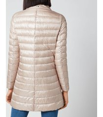 herno women's nylon ultralight mid length coat with scarf detail - rose cipria - it 44/uk 12