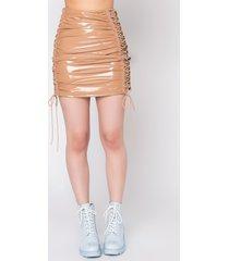 akira truth hurts vinyl mini skirt