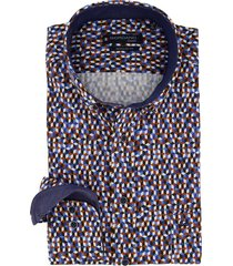 giordano overhemd regular fit donkerblauw printje